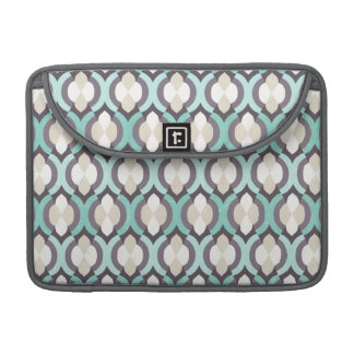 Turquoise Moroccan Pattern Sleeve For MacBook Pro