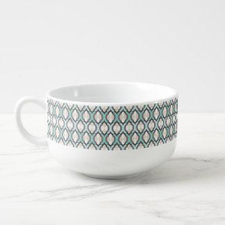 Turquoise Moroccan Pattern Soup Mug