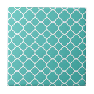 Turquoise Moroccan Pattern Tile