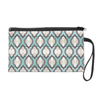 Turquoise Moroccan Pattern Wristlet Clutch