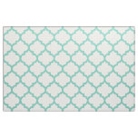 Turquoise Moroccan Trellis Pattern Fabric