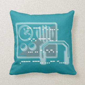 Turquoise Morse code design cushion 41cmx41cm