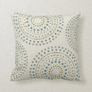 Turquoise Mosaic Stones Print Throw Pillow