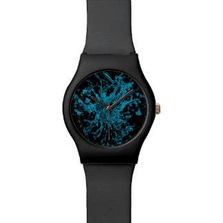 Turquoise neon aqua splash watch