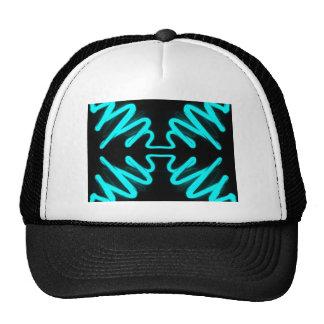 Turquoise Neon Urban Art by CricketDiane Mesh Hats