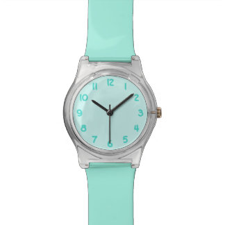 Turquoise Numbers Watch