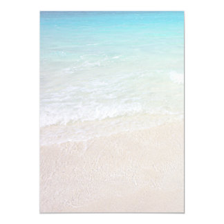Turquoise Ocean Beach Sand Background Paper Card