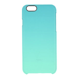 Turquoise Ombre Clear iPhone 6/6S Case