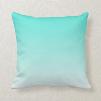 Turquoise Ombre Cushion