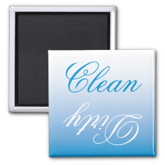 Turquoise Ombre Dishwasher Clean/Dirty Magnet