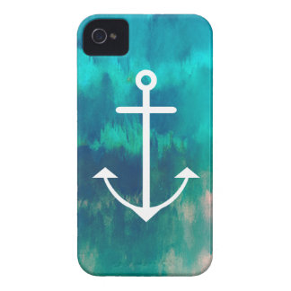 Turquoise Ombre Nautical iPhone 4 Case-Mate Cases