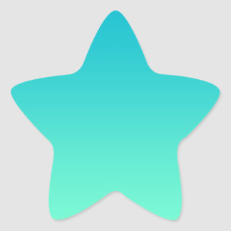 Turquoise Ombre Star Sticker