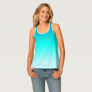 Turquoise Ombre Tank Top