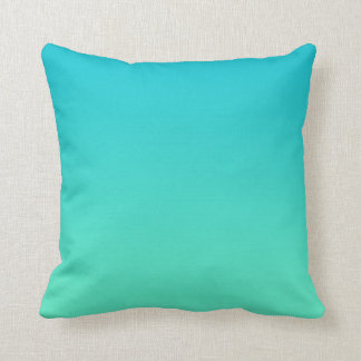 """Turquoise Ombre"" Throw Pillow"