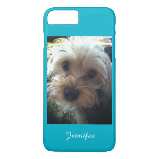 Turquoise or CHOOSE YOUR COLOR Cute Yorkie Custom iPhone 7 Plus Case