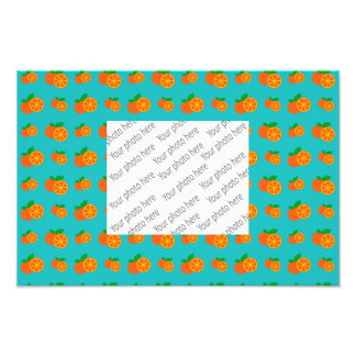Turquoise oranges pattern art photo