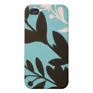 Turquoise original art iphone case covers for iPhone 4