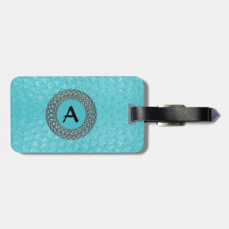 Turquoise Ostrich Skin Look Custom Luggage Tage Luggage Tag