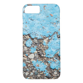 turquoise paint stain on asphalt iPhone 8/7 case