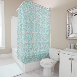 Turquoise Paisley Shower Curtain