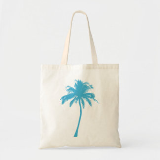 Turquoise Palm Tree Tote Bag
