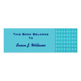 Turquoise Pattern Bookmarks Pack Of Skinny Business Cards