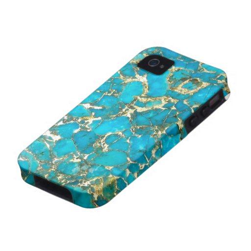 Turquoise Pattern iPhone Case Case-Mate iPhone 4 Case