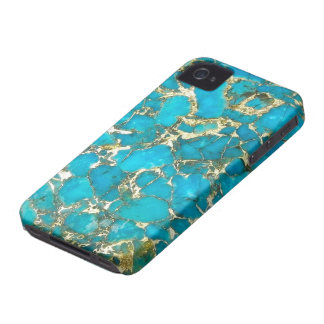 Turquoise Pattern iPhone Case Case-Mate iPhone 4 Cases