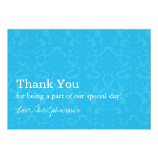 Turquoise Pattern Wedding Thank You Cards Custom Invitations
