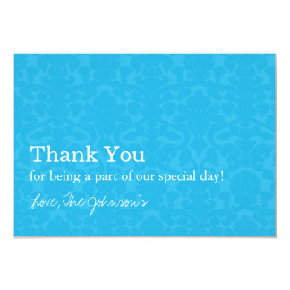 """Turquoise Pattern  Wedding Thank You Cards 3.5"""" X 5"""" Invitation Card"""