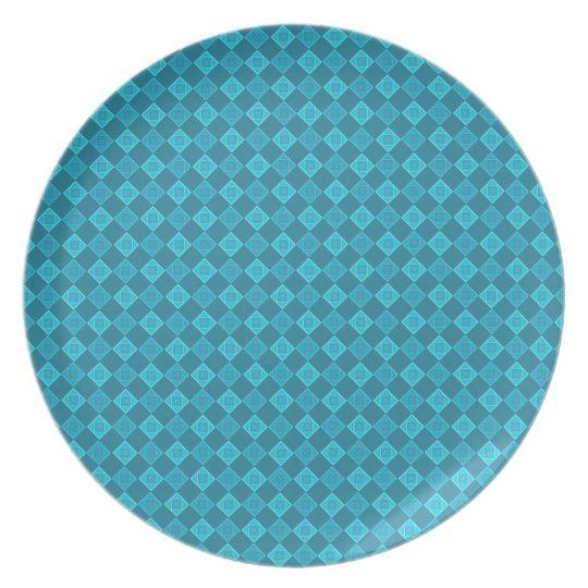Turquoise patterns - Melamine Plate (2)