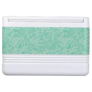 Turquoise Peony Pattern Igloo Cool Box