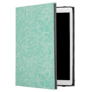 "Turquoise Peony Pattern iPad Pro 12.9"" Case"
