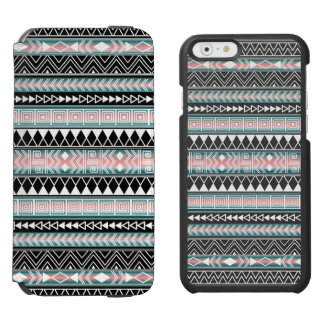 Turquoise, Pink and White Aztec Geometric pattern Incipio Watson™ iPhone 6 Wallet Case