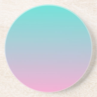 Turquoise Pink Ombre Coaster