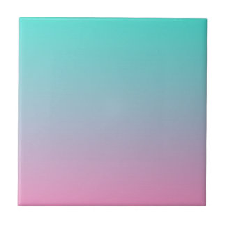 Turquoise Pink Ombre Tile