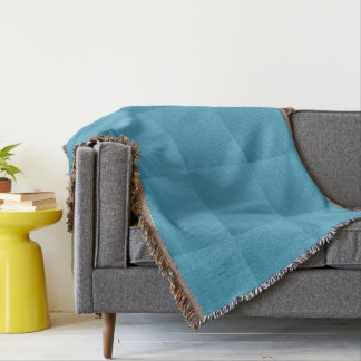 Turquoise Plaid Throw Blanket