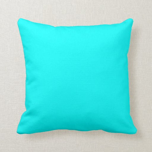 Turquoise plain beautiful luxury cushion pillow