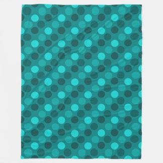 Turquoise Polka Dot Fleece Blanket
