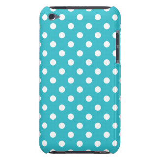 Turquoise Polka Dot iPod Touch G4 Case