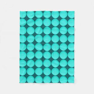 Turquoise Polka Dot Pattern Fleece Blanket