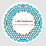 Turquoise Polka Dot Stickers