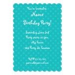 Turquoise polka dots 13 cm x 18 cm invitation card