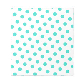 Turquoise Polka Dots Notepad