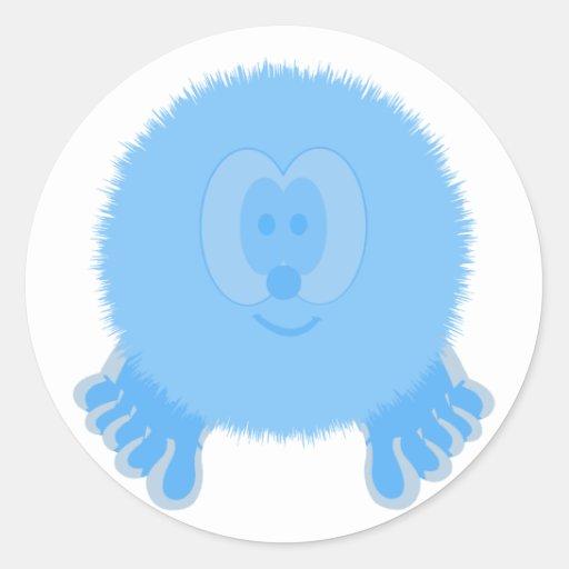 Turquoise Pom Pom Pal Stickers