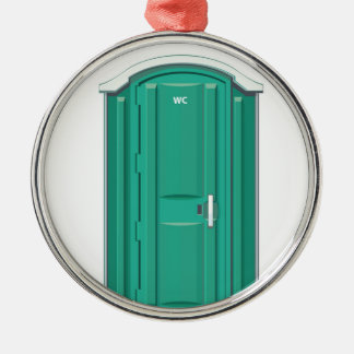 Turquoise Portable Toilet Christmas Ornament