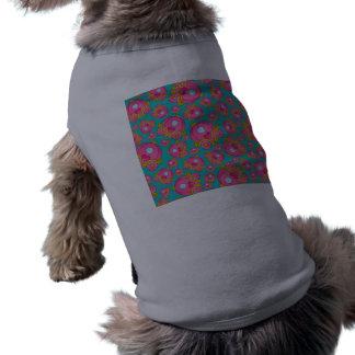 Turquoise princess carriage pattern sleeveless dog shirt