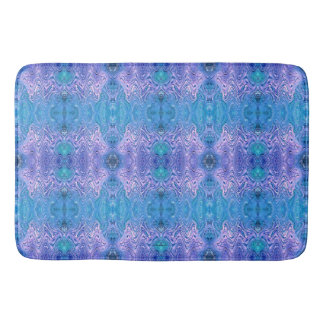 Turquoise Purple Abstract Bath Mat