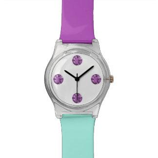 Turquoise Purple Bling Wristwatch