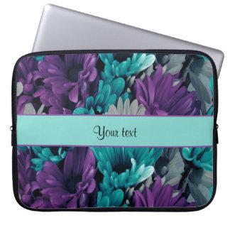 Turquoise & Purple Daisies Laptop Sleeve